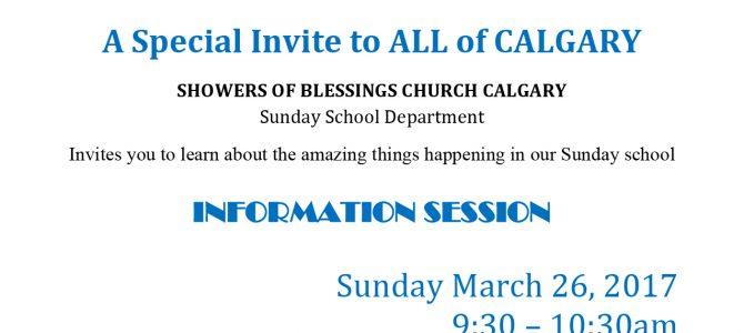 Sunday School Information Session